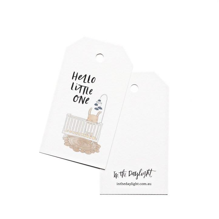 Gift Tags - Baby Crib-Greeting Cards-In The Daylight-Tiny Paper Co-Afterpay-Australia-Toy-Store - In The Daylight - Tiny Paper Co. Afterpay Toy Store Australia