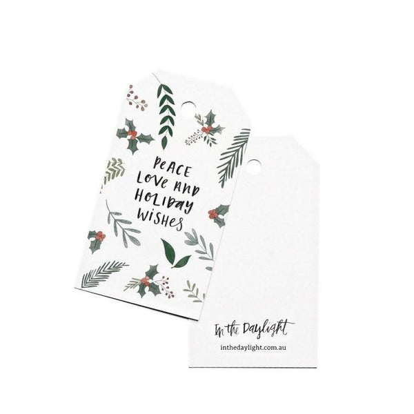 Gift Tags - Christmas Peace Love-Greeting Cards-In The Daylight-Tiny Paper Co-Afterpay-Australia-Toy-Store - In The Daylight - Tiny Paper Co. Afterpay Toy Store Australia