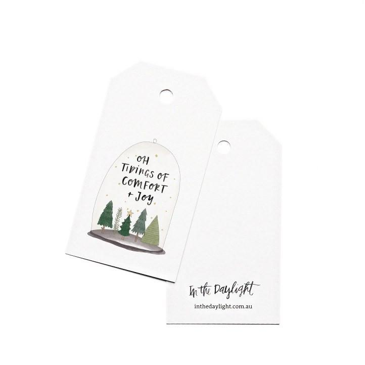 Gift Tags - Christmas Terrarium-Greeting Cards-In The Daylight-Tiny Paper Co-Afterpay-Australia-Toy-Store - In The Daylight - Tiny Paper Co. Afterpay Toy Store Australia
