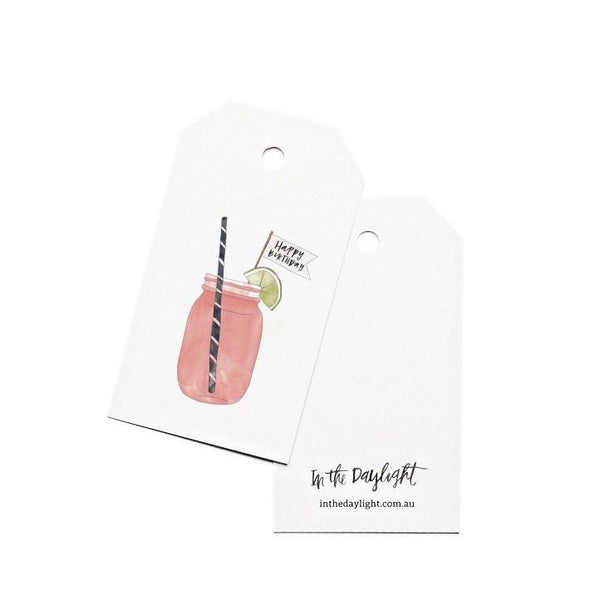 Gift Tags - Mason Jar Birthday-Greeting Cards-In The Daylight-Tiny Paper Co-Afterpay-Australia-Toy-Store - In The Daylight - Tiny Paper Co. Afterpay Toy Store Australia