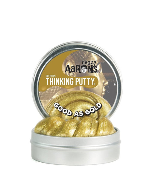 Good as Gold Thinking Putty 4inch Tin-Toys-Crazy Aaron's-Tiny Paper Co-Afterpay-Australia-Toy-Store - Crazy Aaron's - Tiny Paper Co. Afterpay Toy Store Australia