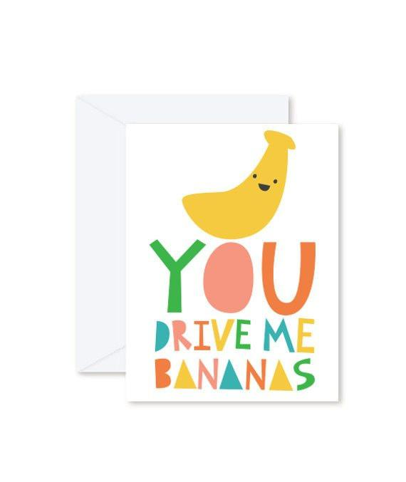 Greeting Cards - Drive me Banana-Greeting Cards-Hello Miss May-Tiny Paper Co-Afterpay-Australia-Toy-Store - Hello Miss May - Tiny Paper Co. Afterpay Toy Store Australia