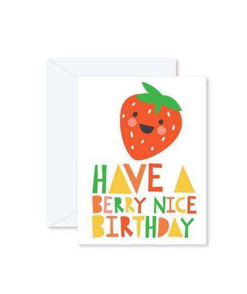 Greeting Cards - Have a Berry Nice Birthday-Greeting Cards-Hello Miss May-Tiny Paper Co-Afterpay-Australia-Toy-Store - Hello Miss May - Tiny Paper Co. Afterpay Toy Store Australia