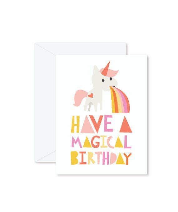 Greeting Cards - Have a Magical Unicorn Birthday-Greeting Cards-Hello Miss May-Tiny Paper Co-Afterpay-Australia-Toy-Store - Hello Miss May - Tiny Paper Co. Afterpay Toy Store Australia