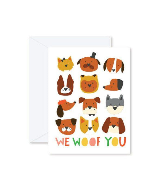 Greeting Cards - We Woof You-Greeting Cards-Hello Miss May-Tiny Paper Co-Afterpay-Australia-Toy-Store - Hello Miss May - Tiny Paper Co. Afterpay Toy Store Australia