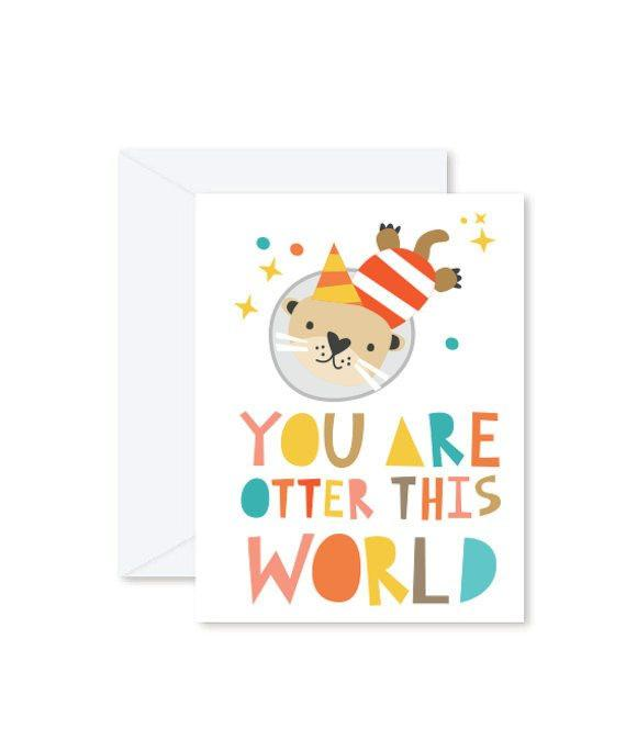 Greeting Cards - You are Otter This World-Greeting Cards-Hello Miss May-Tiny Paper Co-Afterpay-Australia-Toy-Store - Hello Miss May - Tiny Paper Co. Afterpay Toy Store Australia