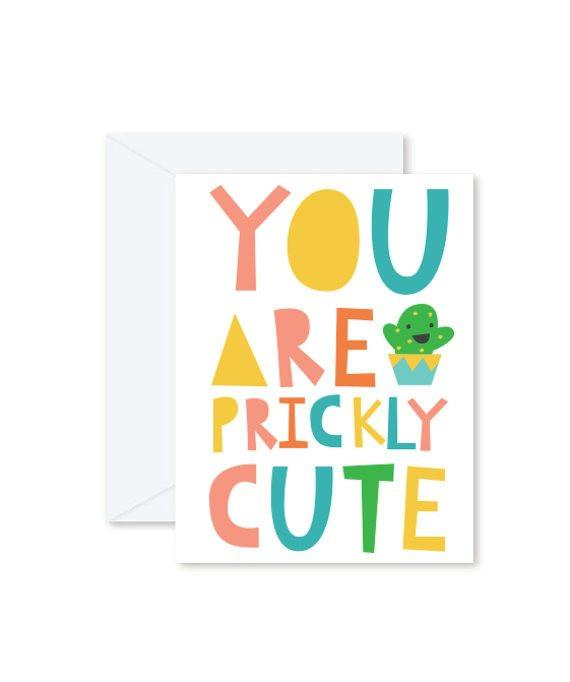Greeting Cards - You are Prickly Cute-Greeting Cards-Hello Miss May-Tiny Paper Co-Afterpay-Australia-Toy-Store - Hello Miss May - Tiny Paper Co. Afterpay Toy Store Australia