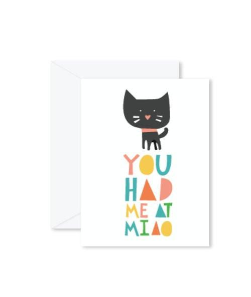 Greeting Cards - You Had Me At Miao-Greeting Cards-Hello Miss May-Tiny Paper Co-Afterpay-Australia-Toy-Store - Hello Miss May - Tiny Paper Co. Afterpay Toy Store Australia