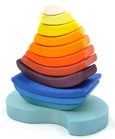 Grimm's Boat Stacking Puzzle-Toys-Grimms-Tiny Paper Co-Afterpay-Australia-Toy-Store - Grimms - Tiny Paper Co. Afterpay Toy Store Australia