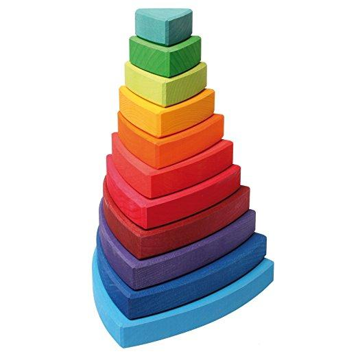 Grimm's Stacking Tower Triangular-Toys-Grimms-Tiny Paper Co-Afterpay-Australia-Toy-Store - Grimm's Spiel and Holz - Tiny Paper Co. Afterpay Toy Store Australia