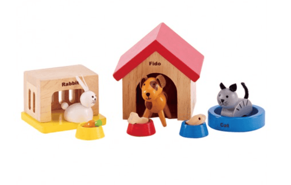 Hape Dollhouse Family Pet Set-Toys-Hape-Tiny Paper Co-Afterpay-Australia-Toy-Store - Hape - Tiny Paper Co. Afterpay Toy Store Australia