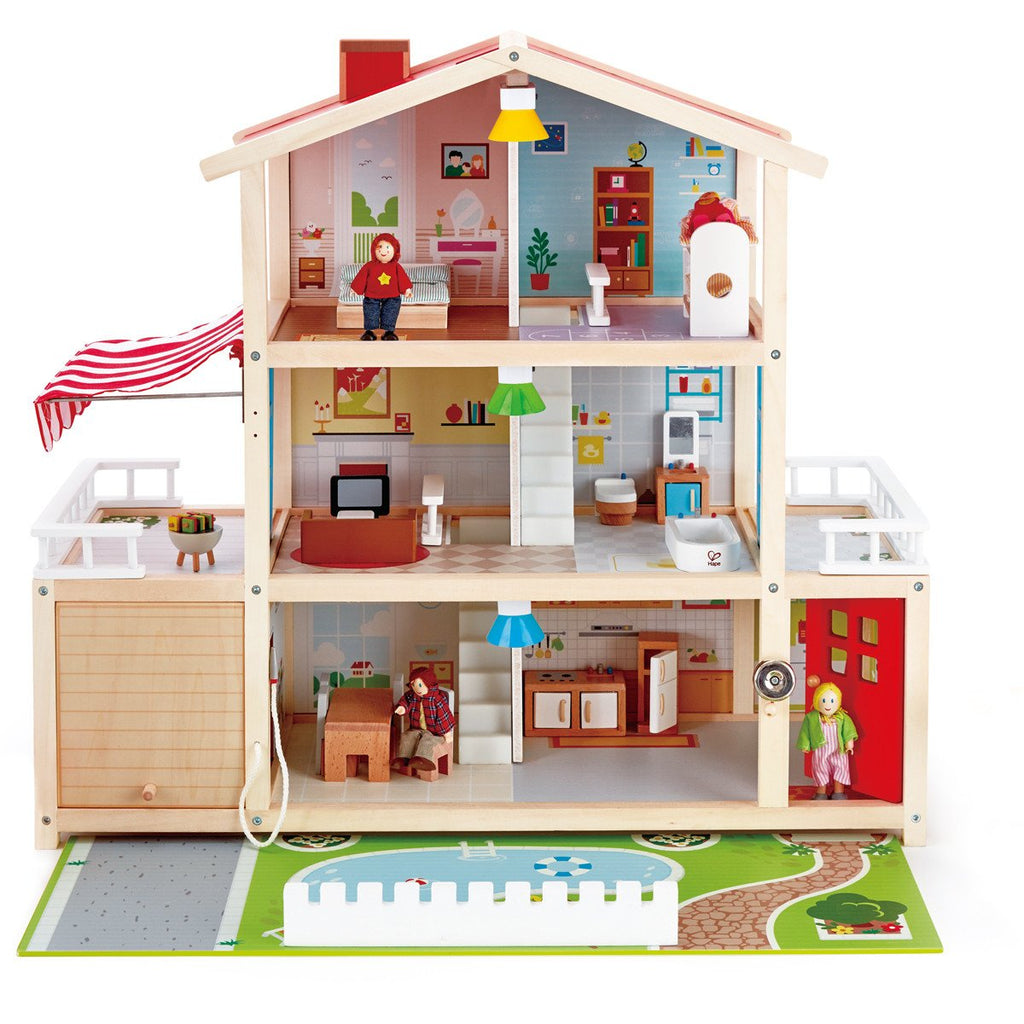 Hape Dollhouse Mansion 29pc Includes Furnitures-Toys-Hape-Tiny Paper Co-Afterpay-Australia-Toy-Store - Hape - Tiny Paper Co. Afterpay Toy Store Australia