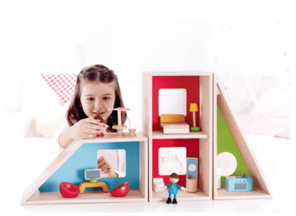 Hape Geometric Doll House-Toys-Hape-Tiny Paper Co-Afterpay-Australia-Toy-Store - Hape - Tiny Paper Co. Afterpay Toy Store Australia