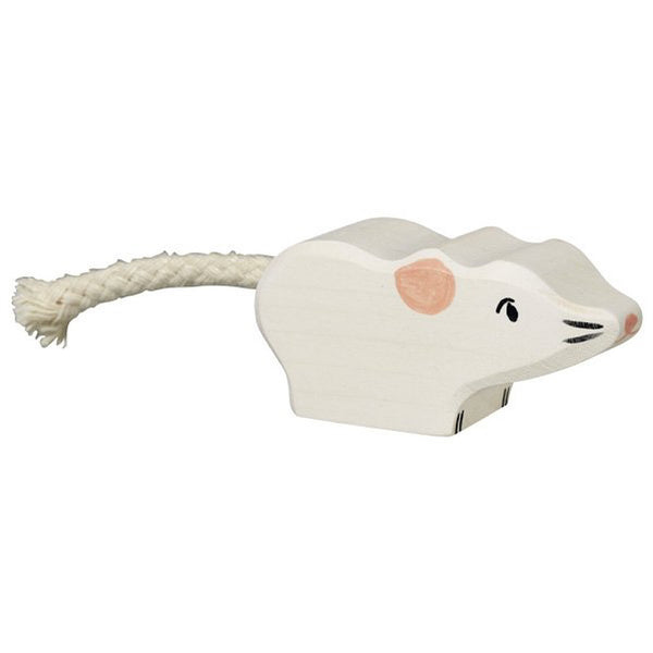 Holztiger Mouse White - Holztiger - Tiny Paper Co. Afterpay Toy Store Australia