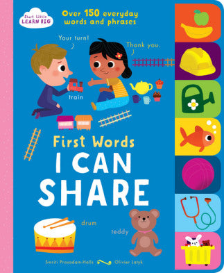 First Words - I Can Share - Start Little Learn Big - Tiny Paper Co. Afterpay Toy Store Australia