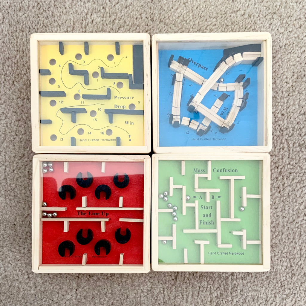 Mini Labyrinth Wooden Puzzle - Toyslink - Tiny Paper Co. Afterpay Toy Store Australia