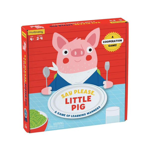 Say Please Little Pig - Cooperation Game - Mudpuppy - Tiny Paper Co. Afterpay Toy Store Australia