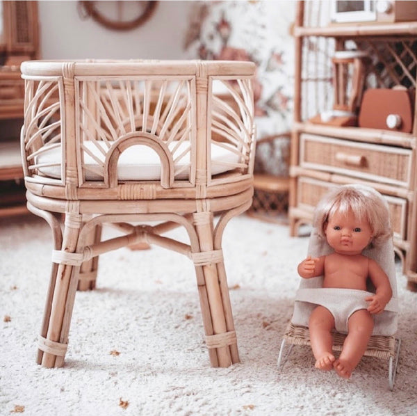 Tiny Harlow  Sunrise Doll's Bassinet - Tiny Harlow - Tiny Paper Co. Afterpay Toy Store Australia