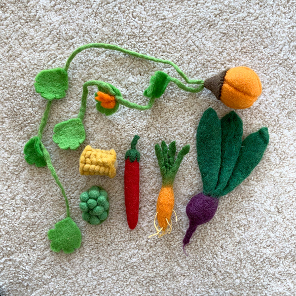 Papoose Toys Mini Veggie Set - Papoose Toys - Tiny Paper Co. Afterpay Toy Store Australia