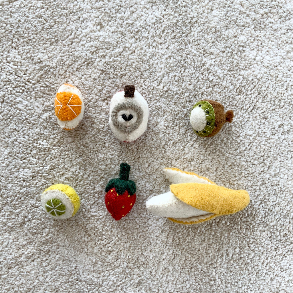 Papoose Toys Mini Fruit Set - Papoose Toys - Tiny Paper Co. Afterpay Toy Store Australia