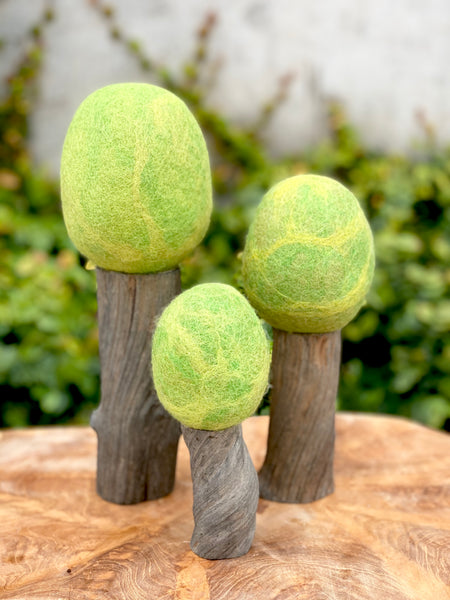 Papoose Toys Felt Trees - Dark Trunk - Papoose Toys - Tiny Paper Co. Afterpay Toy Store Australia