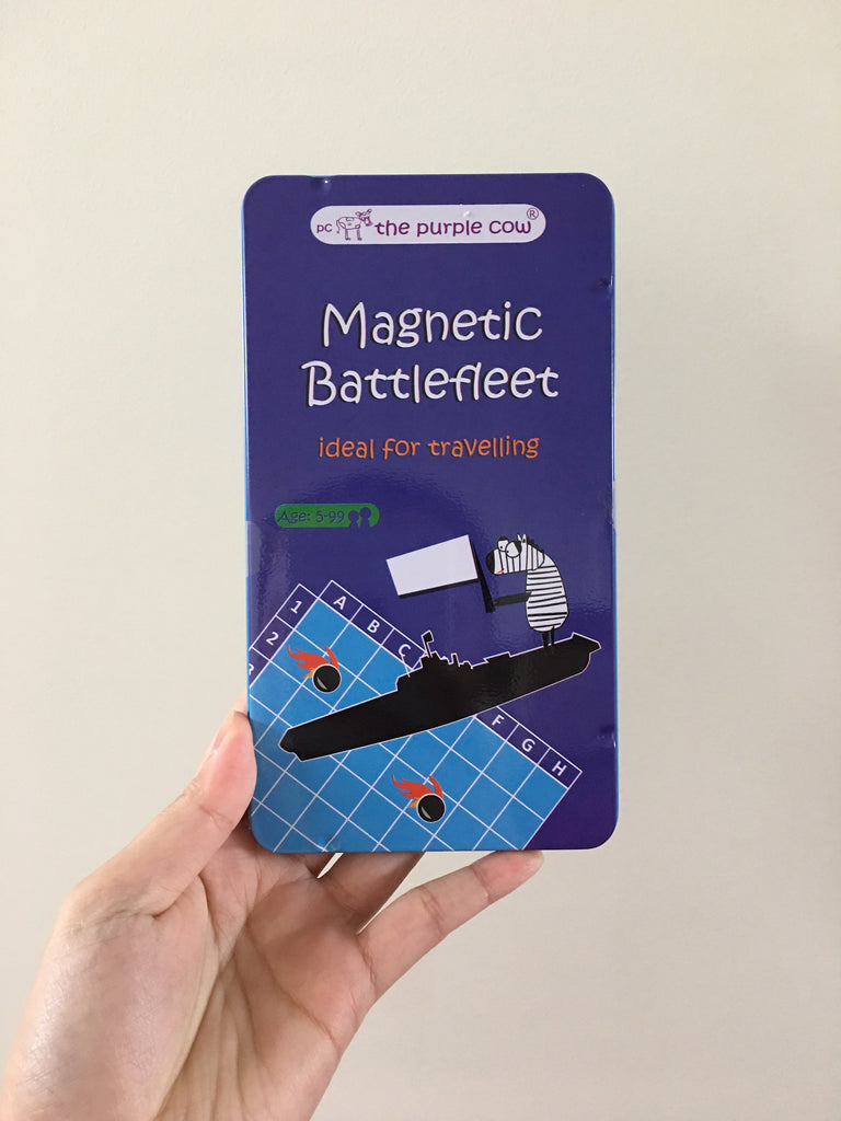 Magnetic Battlefleet Travel Toy - The Purple Cow - Tiny Paper Co. Afterpay Toy Store Australia