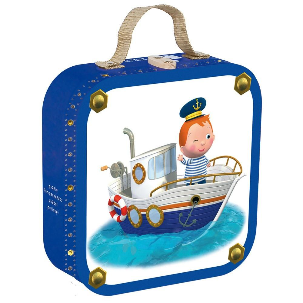 Leo's Boat 4 in 1 Puzzle-Puzzle-Janod-Tiny Paper Co-Afterpay-Australia-Toy-Store - Janod - Tiny Paper Co. Afterpay Toy Store Australia