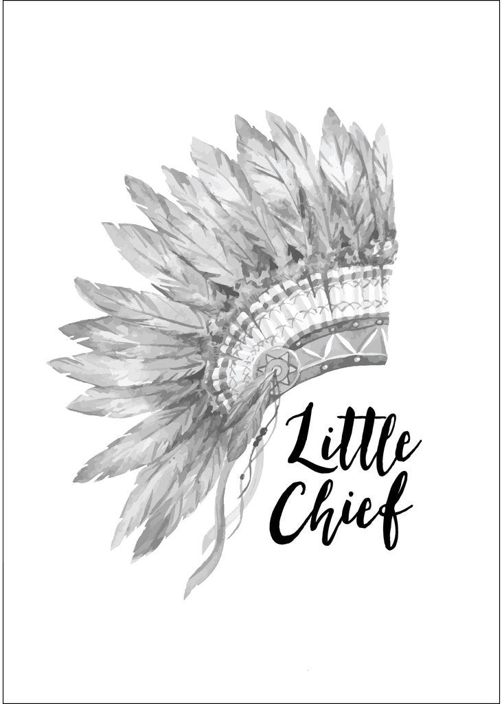 Little Chief A4 Poster-Decor-Ginger Monkey-Tiny Paper Co-Afterpay-Australia-Toy-Store - Ginger Monkey - Tiny Paper Co. Afterpay Toy Store Australia