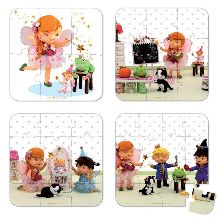 Mila Fairy 4 in 1 Puzzle-Puzzle-Janod-Tiny Paper Co-Afterpay-Australia-Toy-Store - Janod - Tiny Paper Co. Afterpay Toy Store Australia