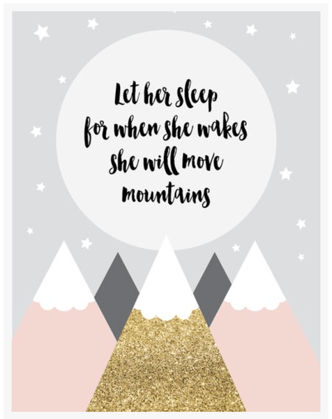 Move Mountain Girl-Decor-Ginger Monkey-Tiny Paper Co-Afterpay-Australia-Toy-Store - Ginger Monkey - Tiny Paper Co. Afterpay Toy Store Australia