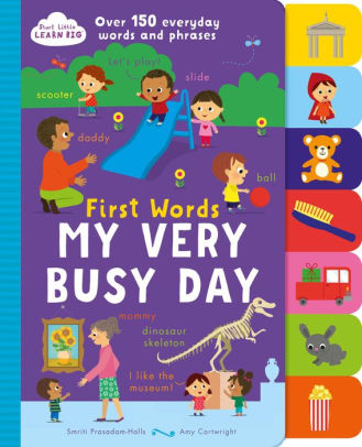 First Words - My Very Busy Day - Start Little Learn Big - Tiny Paper Co. Afterpay Toy Store Australia