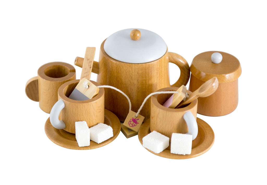Natural Tea Set-Toys-Make Me Iconic-Tiny Paper Co-Afterpay-Australia-Toy-Store - Make Me Iconic - Tiny Paper Co. Afterpay Toy Store Australia