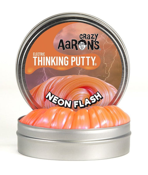 Neon Flash Electric Thinking Putty Small 2 Inch Tin-Toys-Crazy Aaron's-Tiny Paper Co-Afterpay-Australia-Toy-Store - Crazy Aaron's - Tiny Paper Co. Afterpay Toy Store Australia