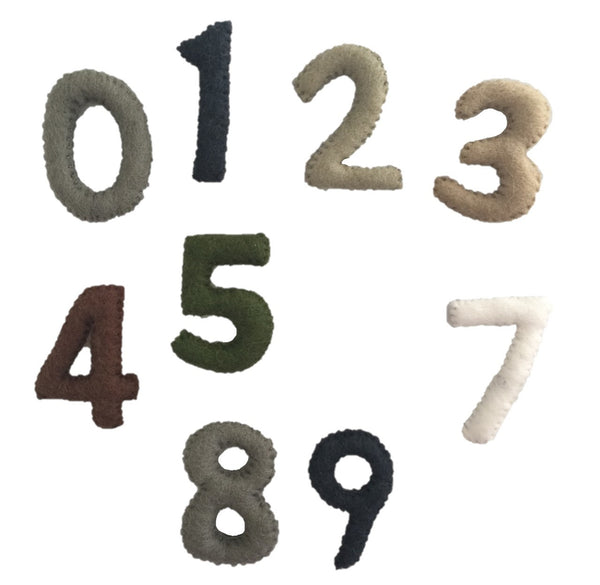 Papoose Toys Felt Numbers - Papoose Toys - Tiny Paper Co. Afterpay Toy Store Australia
