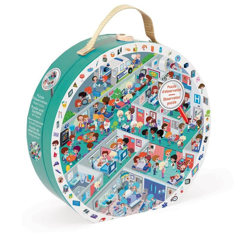 Observation Hospital 208pc Puzzle-Puzzle-Janod-Tiny Paper Co-Afterpay-Australia-Toy-Store - Janod - Tiny Paper Co. Afterpay Toy Store Australia