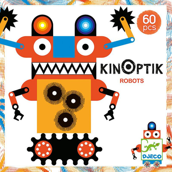 Optical Illusions of Kinoptik Robots-Toys-Djeco-Tiny Paper Co-Afterpay-Australia-Toy-Store - Djeco - Tiny Paper Co. Afterpay Toy Store Australia