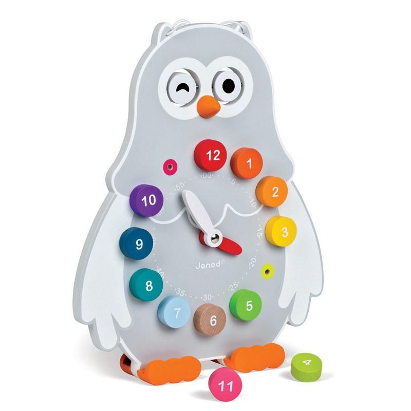 Owly Clock-Toys-Janod-Tiny Paper Co-Afterpay-Australia-Toy-Store - Janod - Tiny Paper Co. Afterpay Toy Store Australia