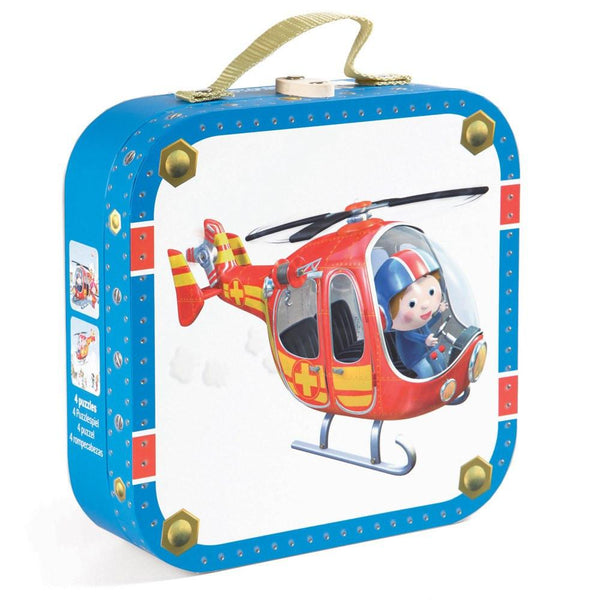 Peter's Helicopter 4 in 1 Puzzle-Puzzle-Janod-Tiny Paper Co-Afterpay-Australia-Toy-Store - Janod - Tiny Paper Co. Afterpay Toy Store Australia