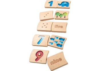 Number Set - Plan Toys - Tiny Paper Co. Afterpay Toy Store Australia