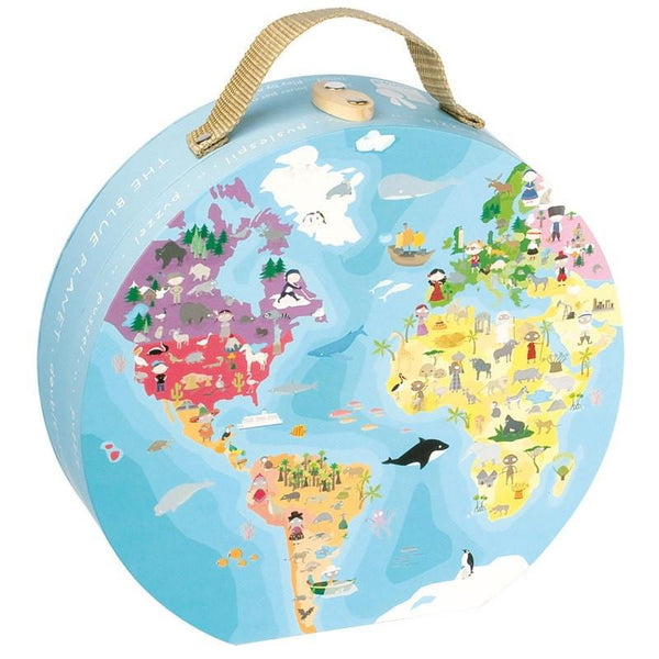 Reversible Blue Planet 208pc Puzzle-Puzzle-Janod-Tiny Paper Co-Afterpay-Australia-Toy-Store - Janod - Tiny Paper Co. Afterpay Toy Store Australia