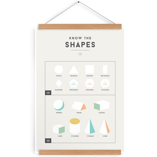 Shapes Chart-Decor-We Are Squared-Tiny Paper Co-Afterpay-Australia-Toy-Store - We Are Squared - Tiny Paper Co. Afterpay Toy Store Australia