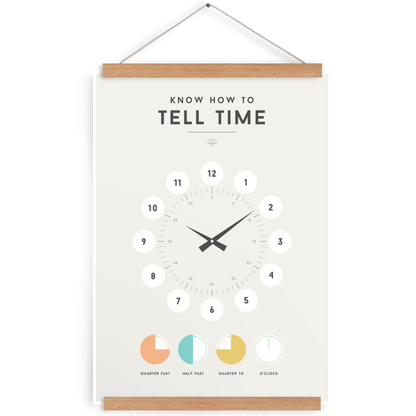 Tell Time-Decor-We Are Squared-Tiny Paper Co-Afterpay-Australia-Toy-Store - We Are Squared - Tiny Paper Co. Afterpay Toy Store Australia