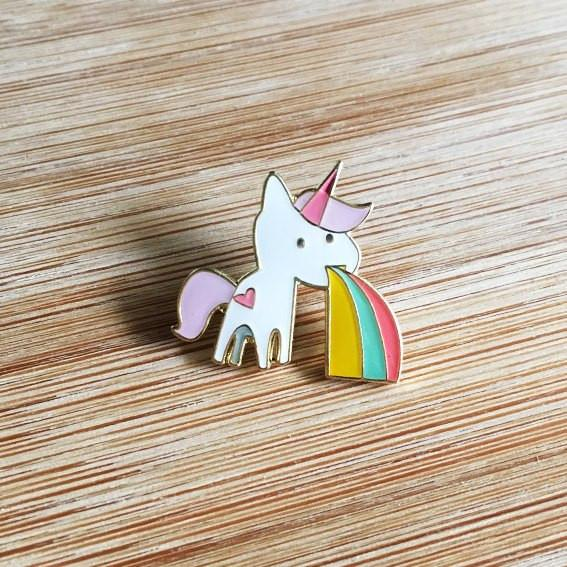 Unicorn Lapel Pin-Decor-Hello Miss May-Tiny Paper Co-Afterpay-Australia-Toy-Store - Hello Miss May - Tiny Paper Co. Afterpay Toy Store Australia