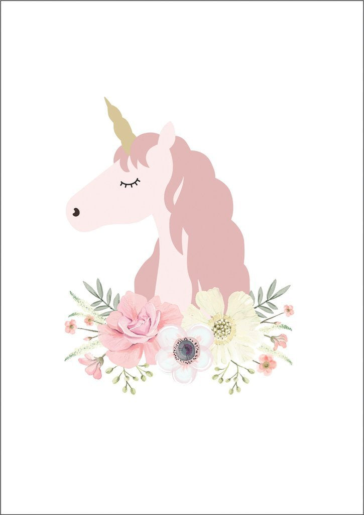 Unicorn Princess A4 Posters-Decor-Ginger Monkey-Tiny Paper Co-Afterpay-Australia-Toy-Store - Ginger Monkey - Tiny Paper Co. Afterpay Toy Store Australia