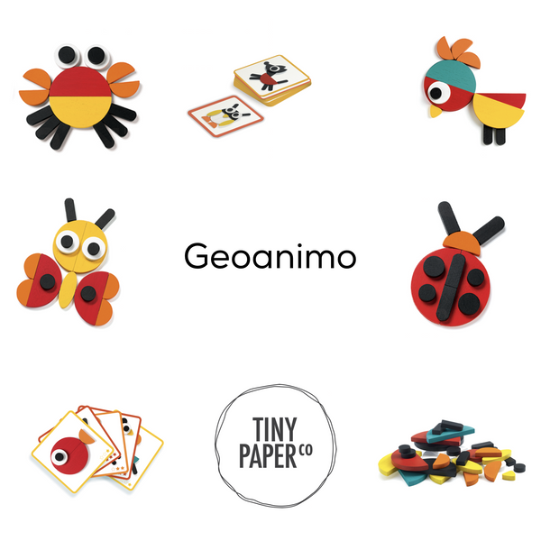 Ze Geoanimo Wooden Game-Games-Djeco-Tiny Paper Co-Afterpay-Australia-Toy-Store - Djeco - Tiny Paper Co. Afterpay Toy Store Australia