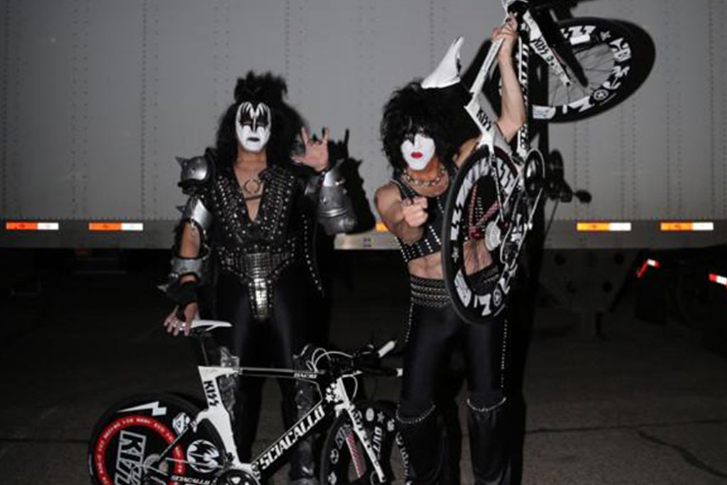 Presenting Bacio Bikes to Gene and Paul of KISS®