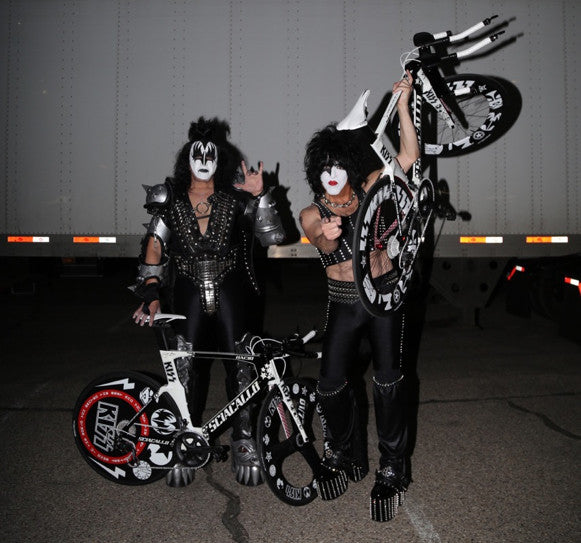 Gene and Paul of KISS® with their Triathlon Bikes