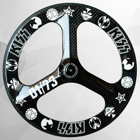 KISS® Limited Edition Carbon Fibre Tri-Spoke Front Wheel