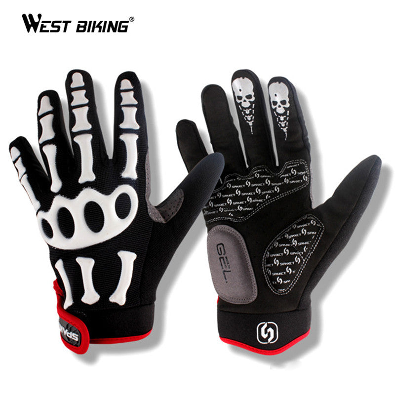 Sciacallo Bikes - WEST BIKING Windproof Thermal Skull MTB Bike Cycling Gloves