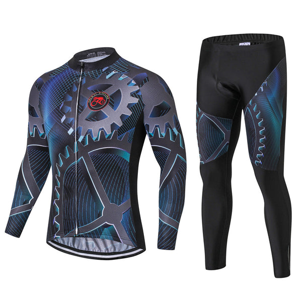 Sciacallo Bikes - Teleyi Men Long Sleeve Cycling Jersey Sets 3D Gel Padded